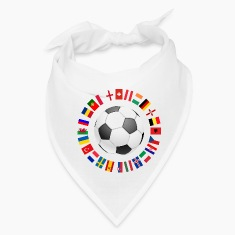 2016 Soccer ball around with flags Caps