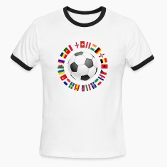 2016 Soccer ball around with flags T-Shirts