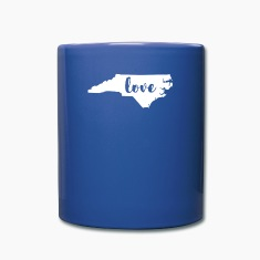 North Carolina Love State T-shirt Mugs & Drinkware