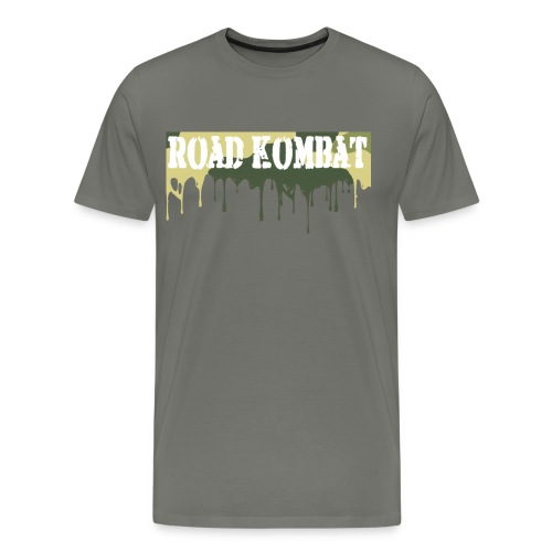 Road Kombat Dripping Camo Mens Tee - Men's Premium T-Shirt