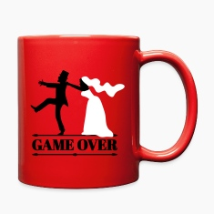 game over bride and groom wedding stag night