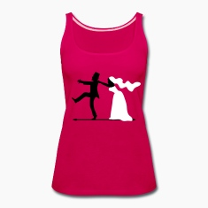 game over bride and groom wedding stag night Tanks