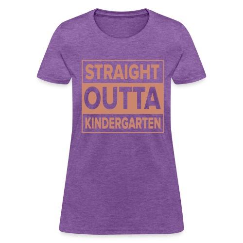 Straight Outta Kindergarten PINK GLITTER - Women's T-Shirt