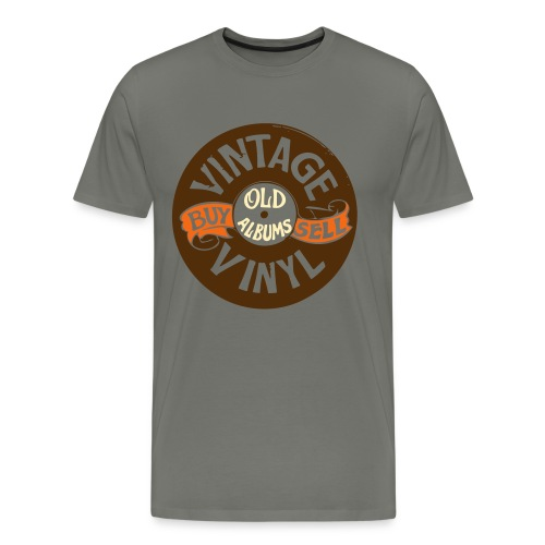 Vintage Vinyl, Men's Premium T-Shirt - Men's Premium T-Shirt
