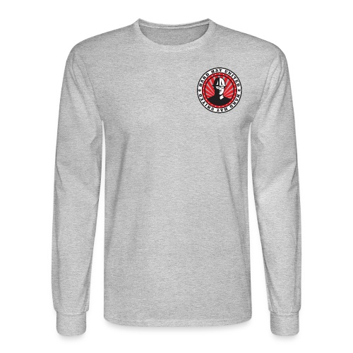 Men's Long Sleeve T-Shirt: Hard Hat United Building No Matter What - Men's Long Sleeve T-Shirt