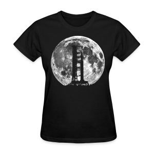 Saturn V Rocket Silhouette Moon t shirt - Women's T-Shirt