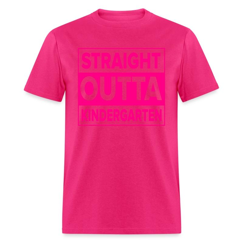 MENS Straight Outta Kindergarten NEON PINK T-Shirt | Kreative in ...