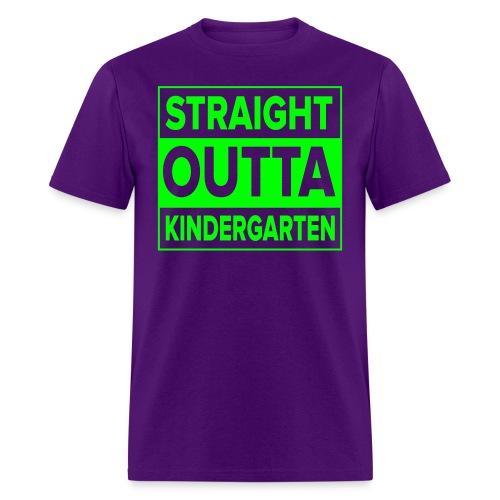 MENS Straight Outta Kindergarten NEON GREEN - Men's T-Shirt