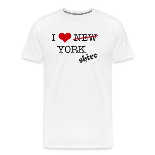 I LOVE YORKSHIRE - Men's Premium T-Shirt