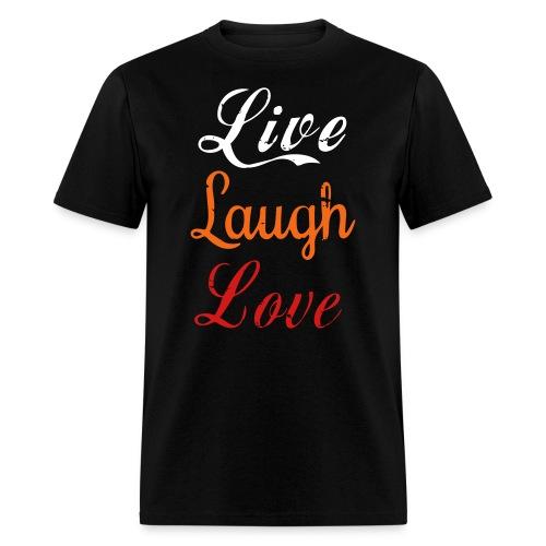 Life, laugh, love, Men's T-Shirt  - Men's T-Shirt