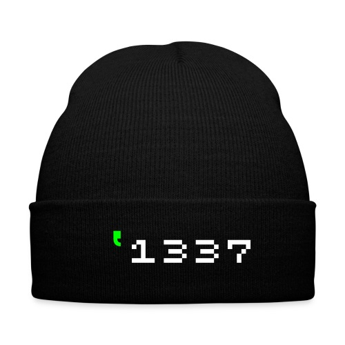 1337 - Knit Cap with Cuff Print