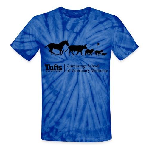 Tie Dye Running Animals - Unisex Tie Dye T-Shirt