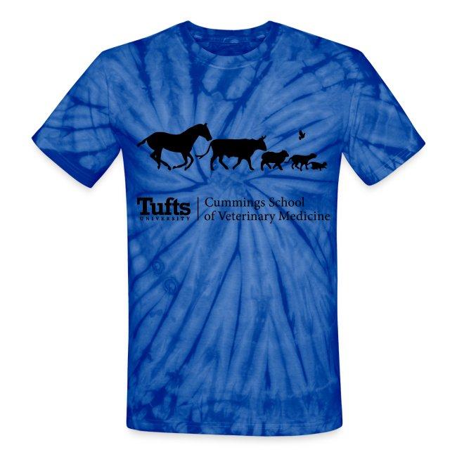 Tie Dye Running Animals
