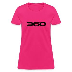 360 Magazine Logo (black logo) - women - Women's T-Shirt