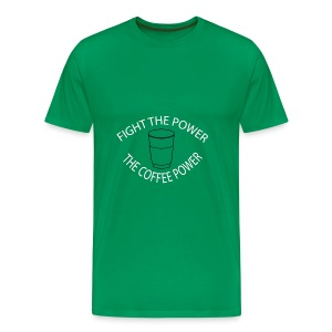 Fight the power - The coffee power - Men's Premium T-Shirt