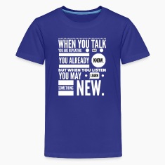 listen to learn Kids' Shirts