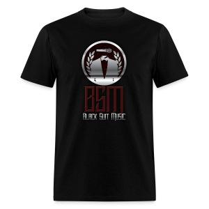 Mens Black-Tee BSM Logo - Men's T-Shirt