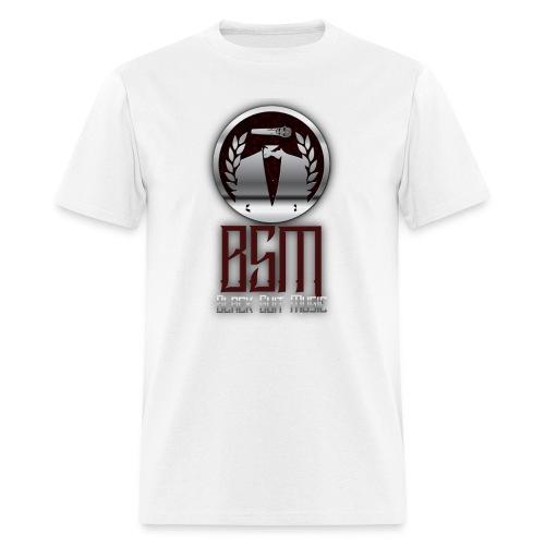 Mens White-Tee BSM Logo - Men's T-Shirt