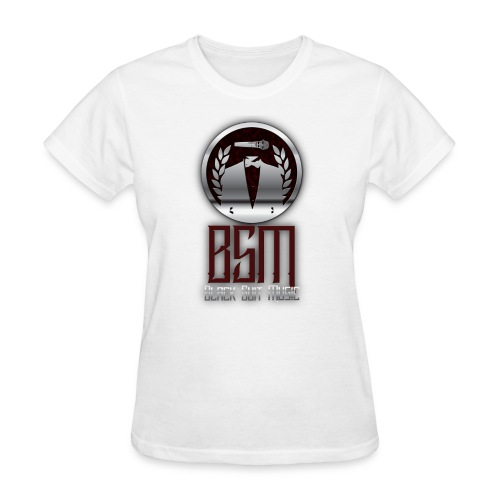 Womens White-Tee BSM Logo - Women's T-Shirt