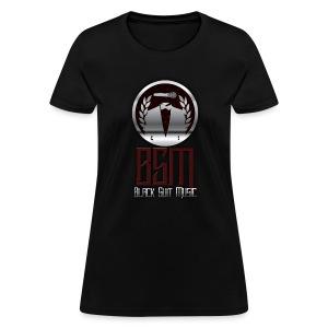 Womens Black-Tee BSM Logo - Women's T-Shirt
