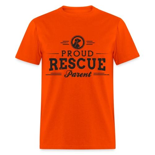 FSR Men's T-Shirt - 'Proud Rescue Parent' (double sided) - Men's T-Shirt