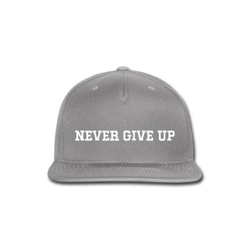 NEVER GIVE UP Unisex Hat - Snap-back Baseball Cap