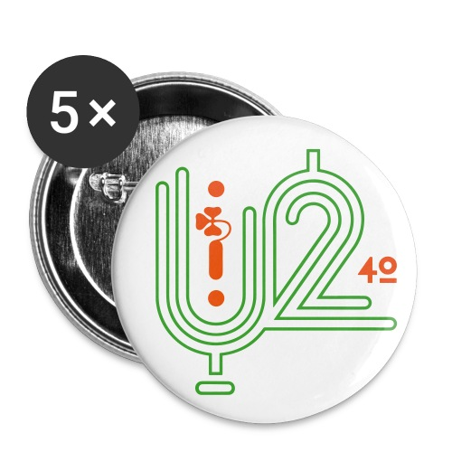 U+2=40 - 56 mm (2,25) - Buttons large 2.2'' (5-pack)