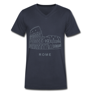 Colosseum in Rome - Men's V-Neck T-Shirt by Canvas