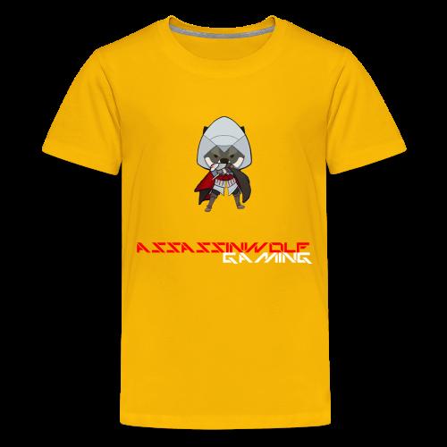 sun yellow assassinwolf Tee - Kids' Premium T-Shirt