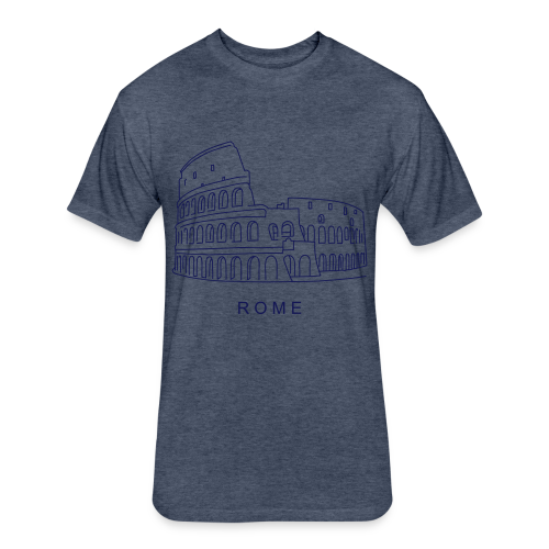 Colosseum in Rome - Fitted Cotton/Poly T-Shirt by Next Level