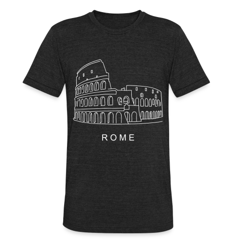 Colosseum in Rome - Unisex Tri-Blend T-Shirt