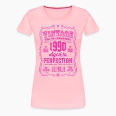Vintage 1990 Aged to Perfection 26th Birthday Women's T-Shirts
