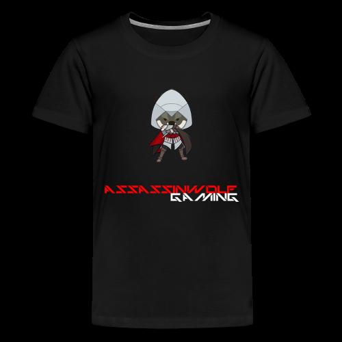 black assassinwolf Tee - Kids' Premium T-Shirt