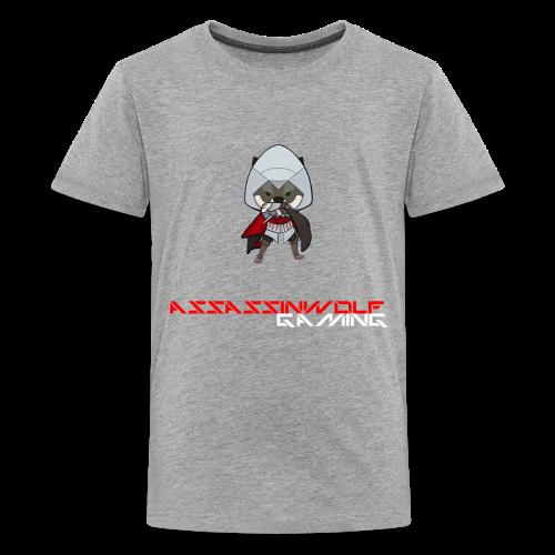 heather gray assassinwolf Tee - Kids' Premium T-Shirt