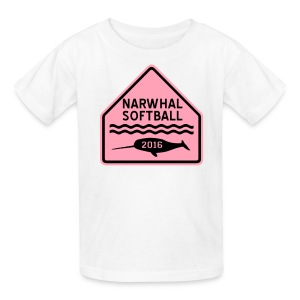 Narwhal Softball - Kids' T-Shirt
