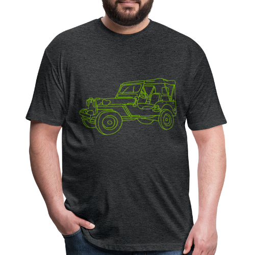 SUV 4x4 - Fitted Cotton/Poly T-Shirt by Next Level