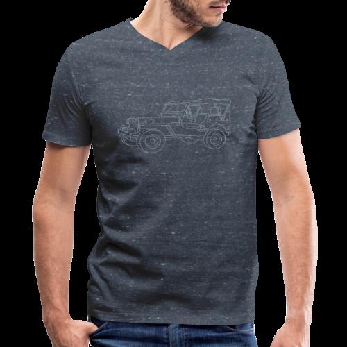 SUV 4x4 - Men's V-Neck T-Shirt by Canvas