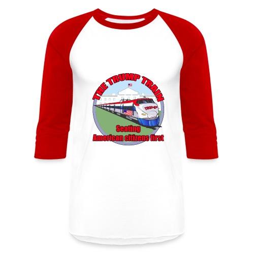 Trump Train America first - Baseball T-Shirt