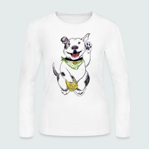 Happy Pit Bull! - Women's Long Sleeve Jersey T-Shirt