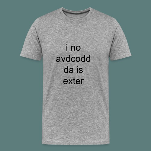 i no avdcoddda is exter - Men's Premium T-Shirt