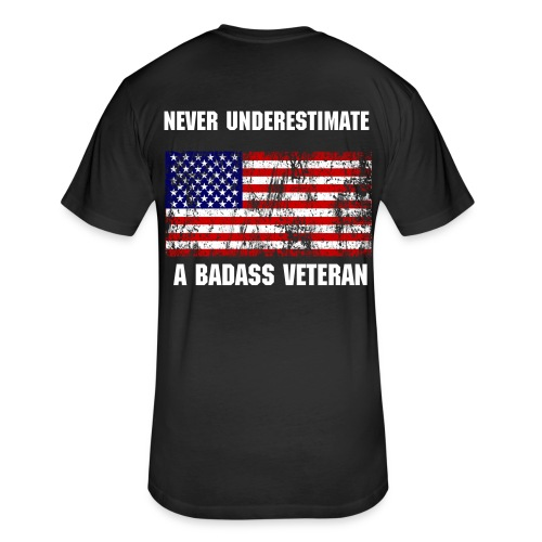 BADASS VET. - Fitted Cotton/Poly T-Shirt by Next Level