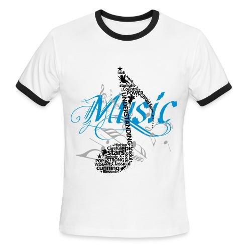 AQUA Z MUSIC - Men's Ringer T-Shirt