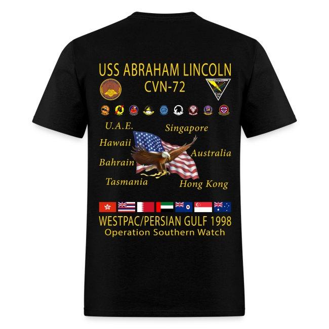 USS ABRAHAM LINCOLN CVN-72 WESTPAC 1998