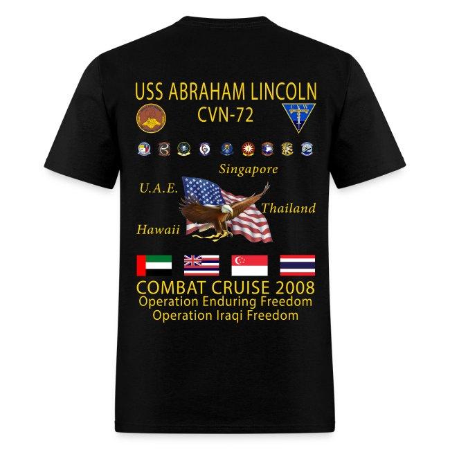 USS ABRAHAM LINCOLN CVN-72 WESTPAC 2008 CRUISE SHIRT