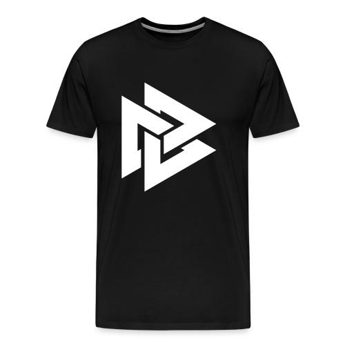 DDD Men's Premium T-Shirt with White Logo (Assorted Colours) - Men's Premium T-Shirt