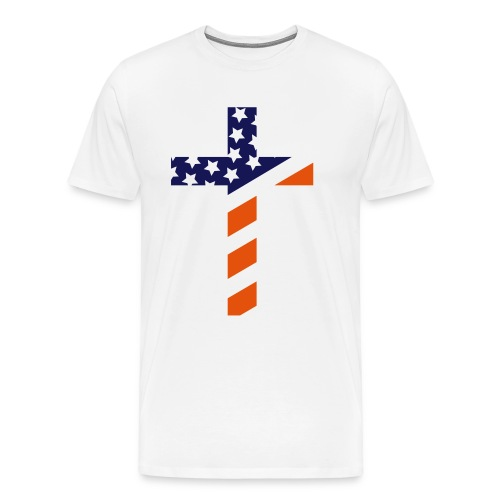 USA cross shirt men - Men's Premium T-Shirt
