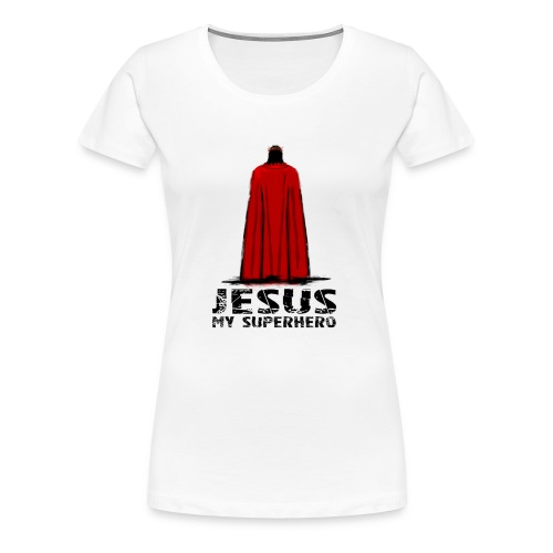 Jesus superhero shirt men - Women's Premium T-Shirt