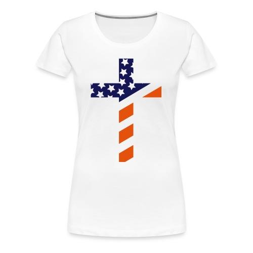 USA cross shirt women - Women's Premium T-Shirt