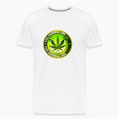 Funny Marijuana Cannabis Weed Sign Smiling Green M