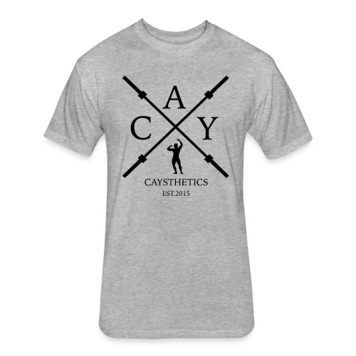 Men's T-shirt Barbell Logo - Fitted Cotton/Poly T-Shirt by Next Level